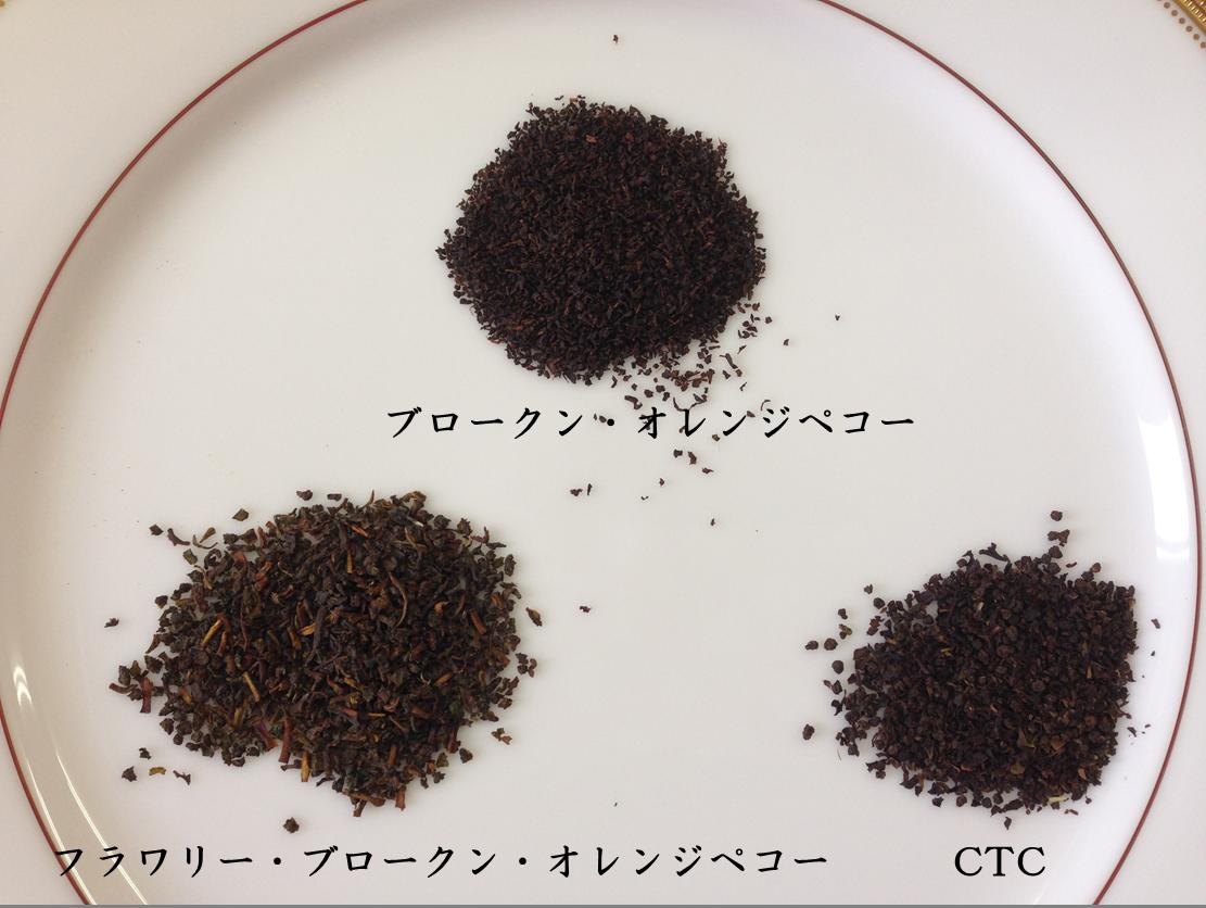 細かい茶葉の例