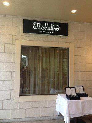 アフタヌーンティーのLO前まではイル・ムリーノの入り口の横に紅茶が置いてあります。