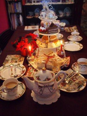 2014のクリスマスティーパーティーのテーブルです。