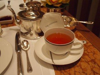ペニンシュラ アフタヌーンティーの紅茶