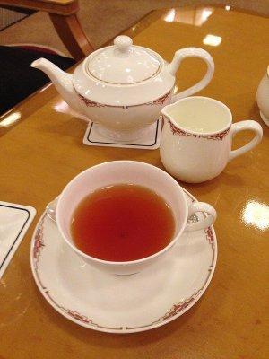 写真の紅茶はオレンジペコー。とっても美味しい紅茶でした。