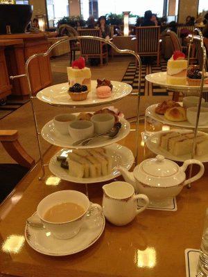 帝国ホテル1Fのランデブーラウンジでアフタヌーンティーをしてきました。