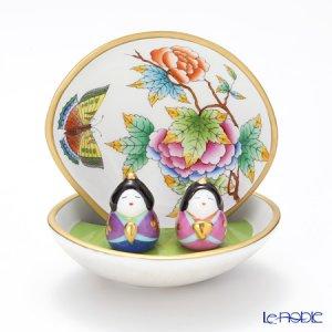 ヘレンド ヴィクトリア・ブーケ 貝雛 お雛様もヴィクトリアブーケの柄です。