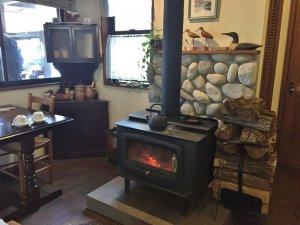 素敵な暖炉もありました。