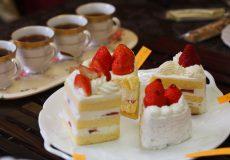 苺のショートケーキに合う紅茶のマリアージュ(組み合わせ)を探すティーパーティーを開きました。