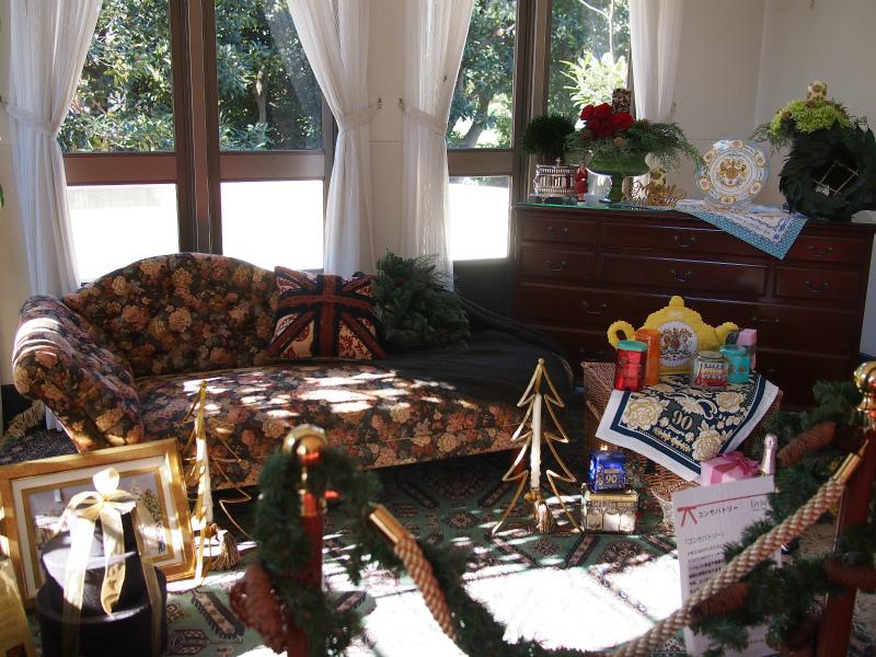 今の隣のお部屋もクリスマス仕様でした。