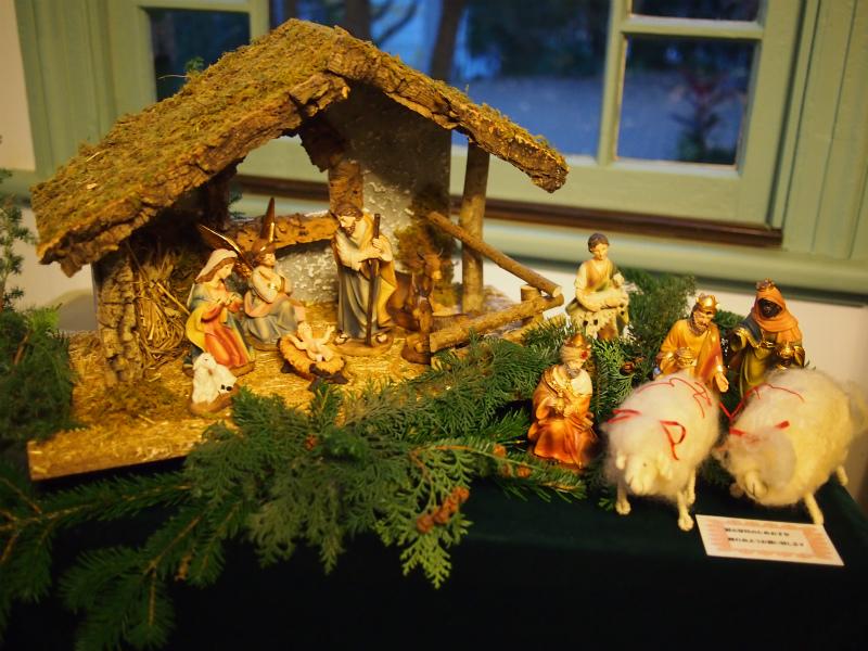 キリスト誕生のフィギュアもありました。