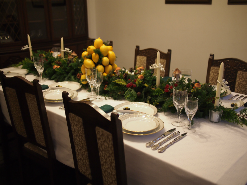 ブラフ18番館のテーマはイタリアのクリスマス。