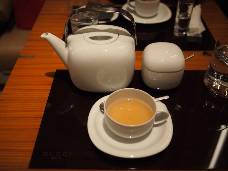 こちらはハーブティーのミント。GUCCIカフェではハーブティーが人気だそうです。