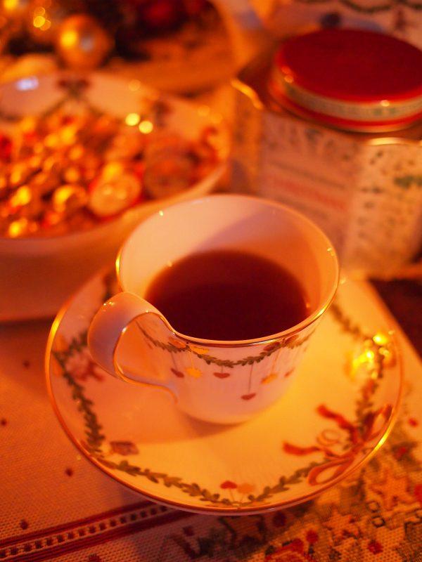 クリスマスティーも飲みました。このクリスマスティーはミツティーのもの。マローブルーなどが入っていて個性的だけど飲みやすいクリスマスティーでした。