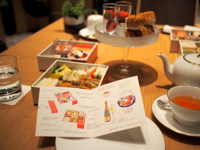 ザ・キャピトルホテル東急ORIGAMIのアフタヌーンティーのメニューはイラスト付きでとても可愛らしいです。