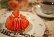 <お菓子と紅茶のマリアージュ>マドモアゼル セの「いちごのモンブラン」に合う紅茶は?