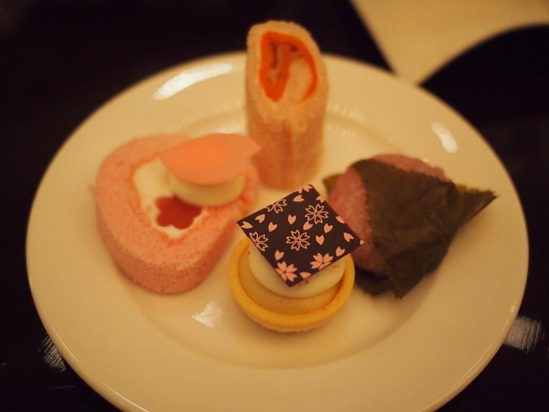 anaintercontinental tokyo sakura afternoontea sweets