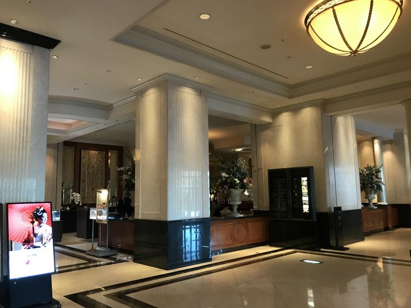 名古屋マリオットアソシアホテル ロビーラウンジ シーナリーはエントランスを入って右側にあります。