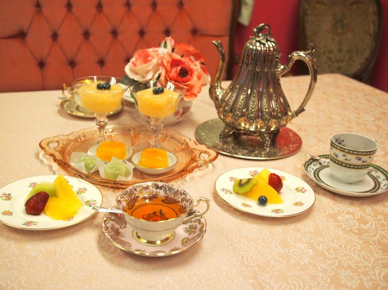 最後はフルーツを使った美味しい和菓子で、ダージリンセカンドフラッシュを楽しみました。