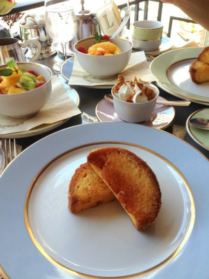 こちらはラデュレ銀座店の朝食