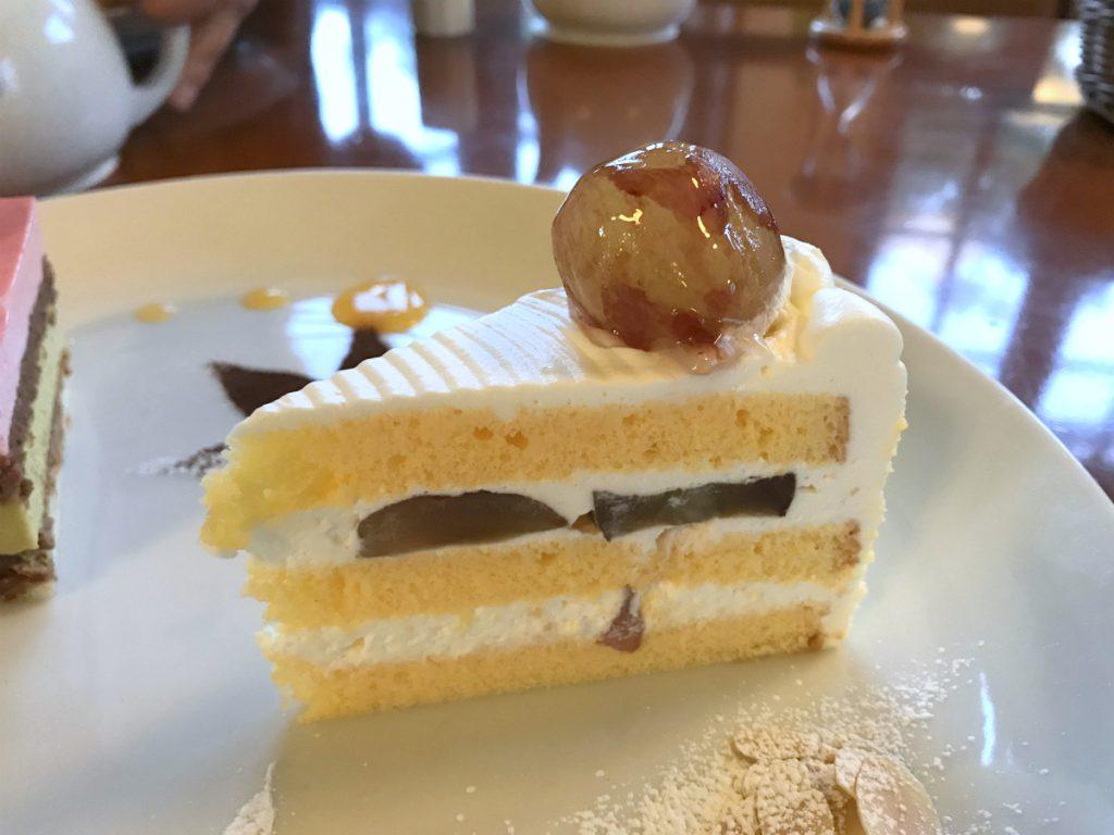 ぶどうのショートケーキ