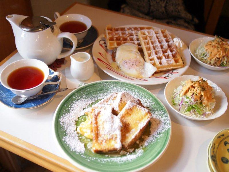 ストーブカフェ「オキザリス」の朝食