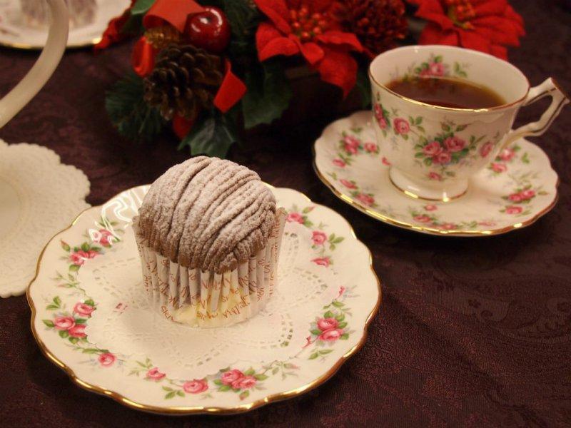 サロン・ド・テ アンジェリーナのモンブランと紅茶