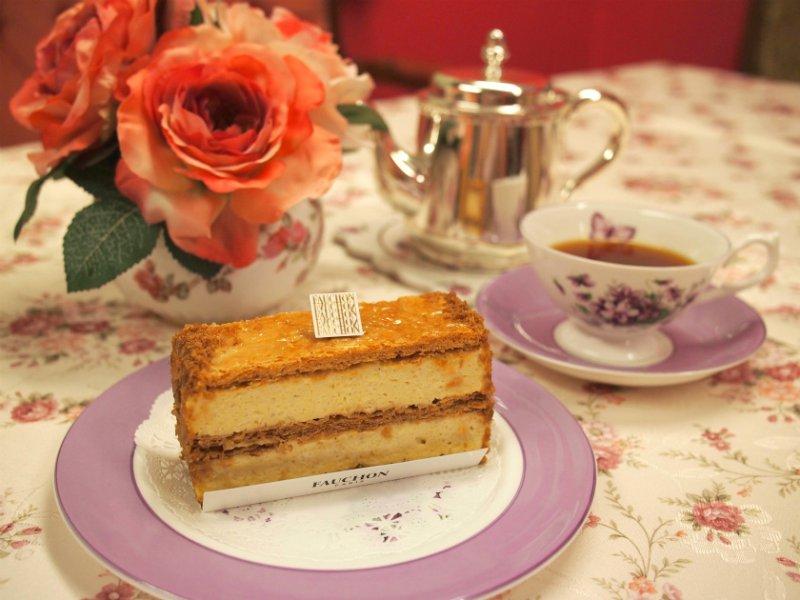フォションの「ミルフィーユ」と紅茶