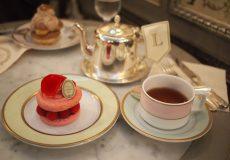<銀座>「ラデュレ・サロン・ド・テ」可愛いケーキでティータイム