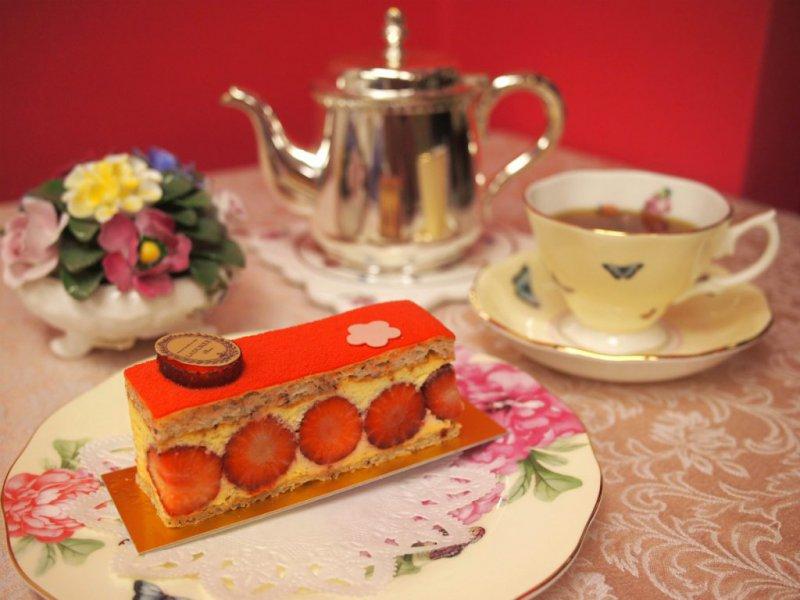 ラデュレの新作「フレジェ」と紅茶
