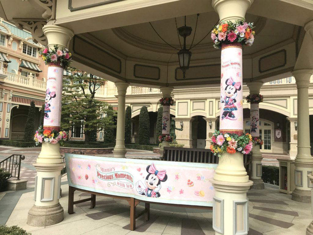 ミニーちゃんイベント期間なので、ホテルにはミニーちゃんがいたるところに!
