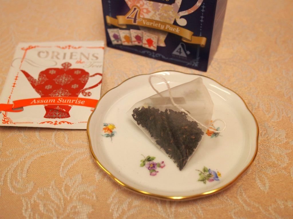 こちらはアッサム・サンライズの茶葉。美味しい紅茶だったけれど、現在はラインナップからなくなってしまいました。