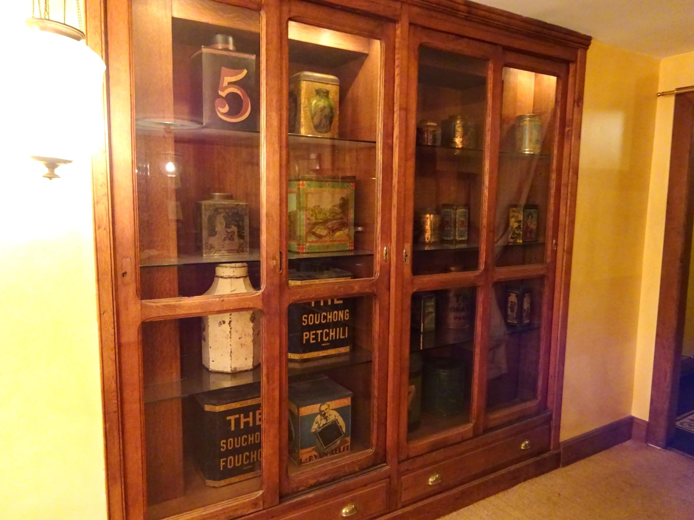 マリアージュフレール シャンゼリゼ店の紅茶博物館。