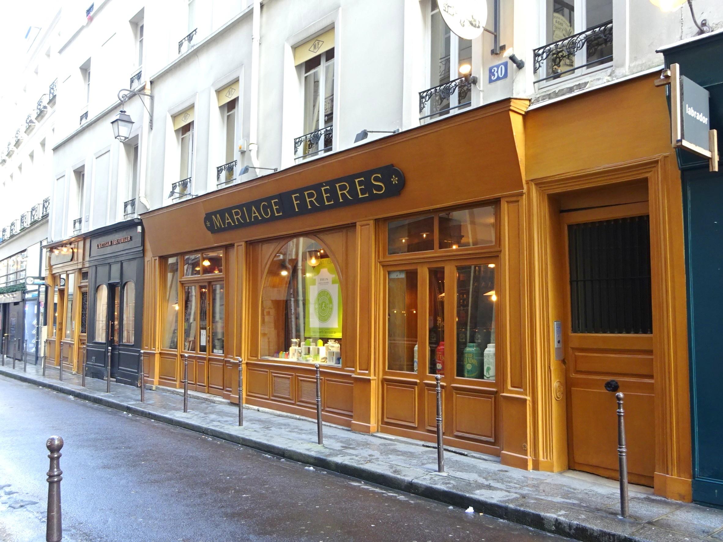 こちらがパリのマレ地区にあるマリアージュフレールの本店です。