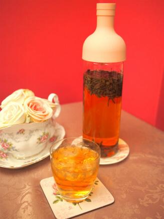 利用頻度が高いのはやっぱり水出し紅茶。春から秋にかけては毎日ハリオフィルターインボトルで水出し紅茶を作っています。