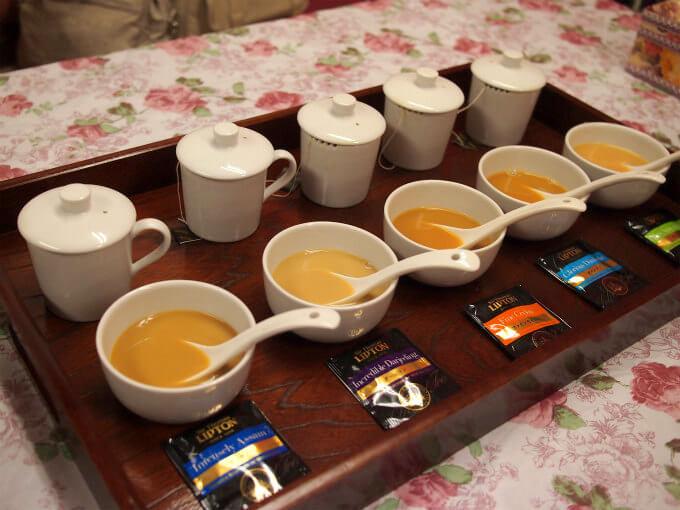 その後、ミルクティーにして試飲してみました。ミルクティにしたら、アッサムが一番美味しかったです。