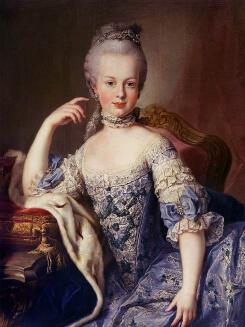フランスにお嫁に行く少し前のマリーアントワネット