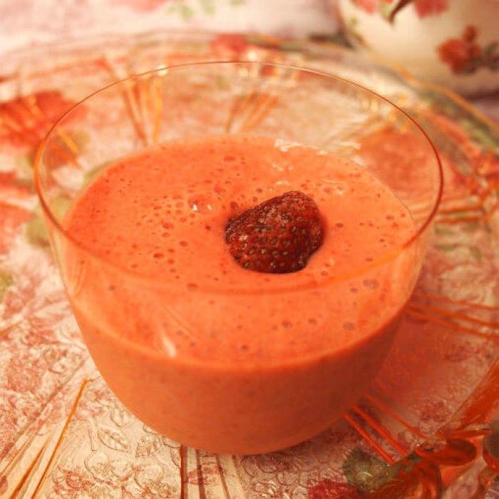 strawberry milk teasmoothie recipe8