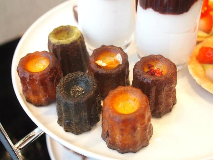 キャメロン・ディアスなどセレブにも人気の「カヌレbyセリーヌ」がプロデュースしたカヌレは抹茶、オレンジ、ベリー、甘酒、チョコ、バニラの6種類。