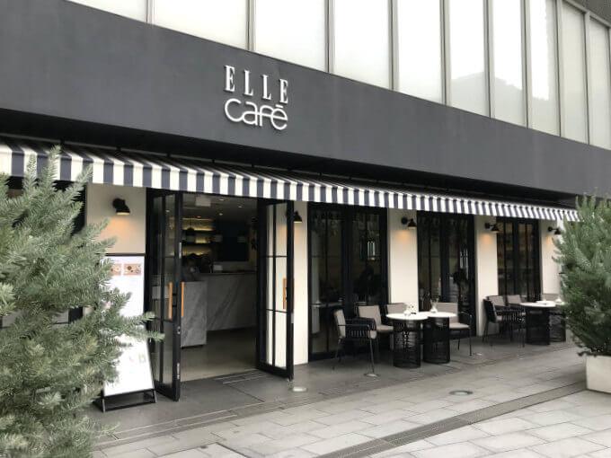 ELLE café青山店の外観。
