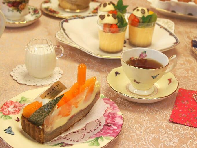 ファウンドリーのメロンタルトと紅茶