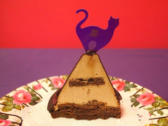 黒猫のスイートチョコレートの断面図