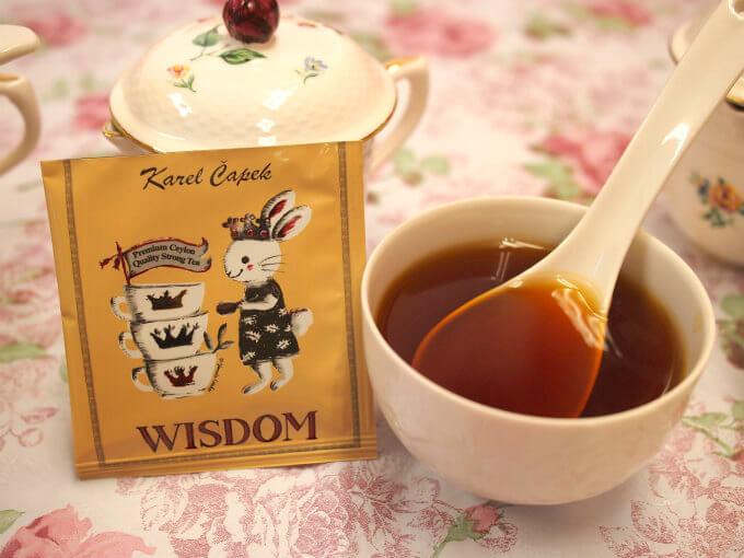 こちらもカレルチャペック30周年記念のフレーバーティー「WISDOM」。ルンビニ茶園の選別手摘みルフナ茶にりんごとシナモンでフレーバリングした紅茶。ストレートでもミルクティーでも美味しかったです。