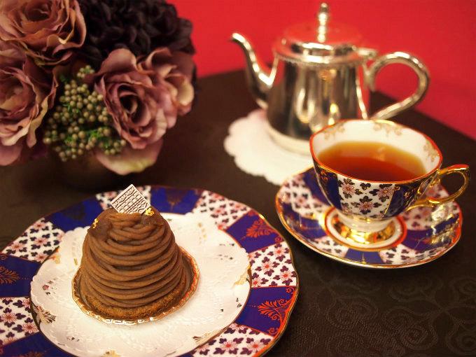FAUCHON(フォション)のモンブランと紅茶