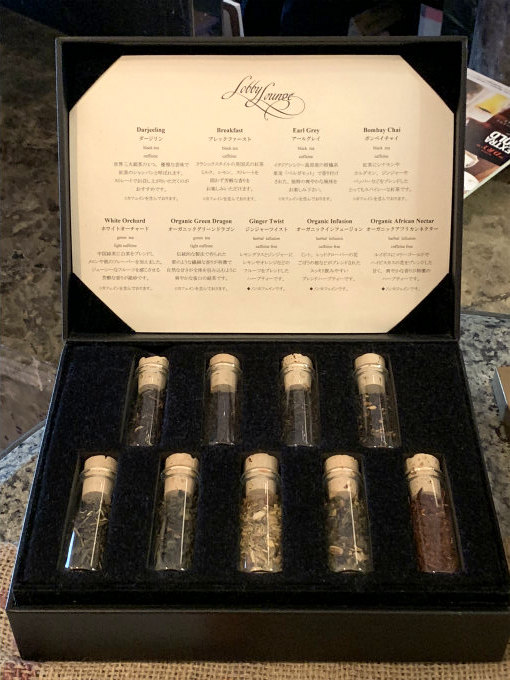 ホテルイースト21「ロビーラウンジ」の紅茶はマイティーリーフのものです。