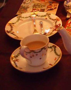 このカップ&ソーサーはロイヤルコペンハーゲンのもの。スターフルーテッドというシリーズです。