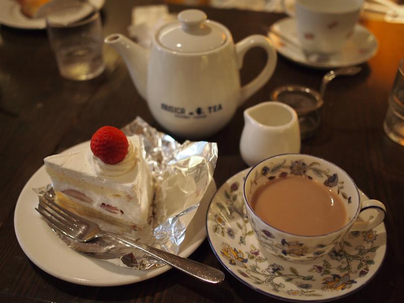 ショートケーキのセットの写真