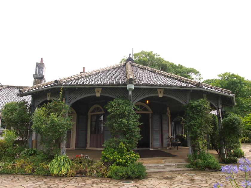 こちらは旧グラバー住宅。江戸時代に建てられた貴重な洋館です。