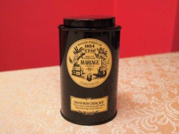 市販されている紅茶も缶入りが多いです。こちらはマリアージュフレールの缶入り紅茶です。