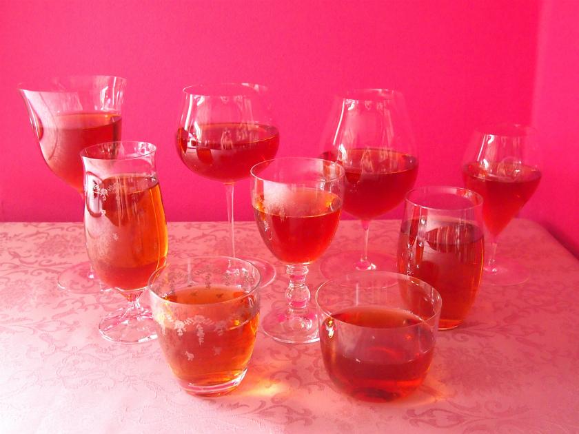 tea magazine glass