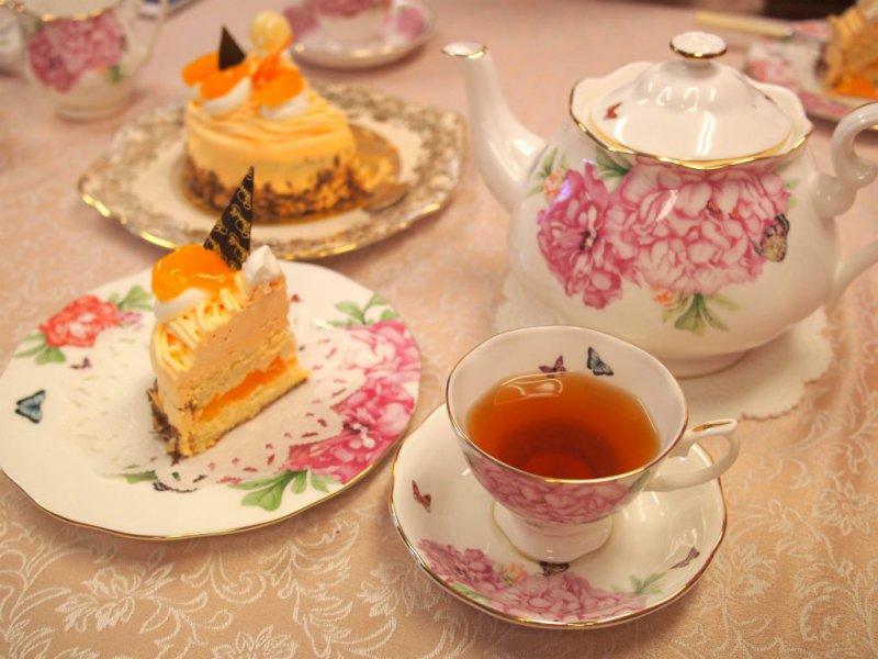 メルベイユの「みかんブラン」と紅茶