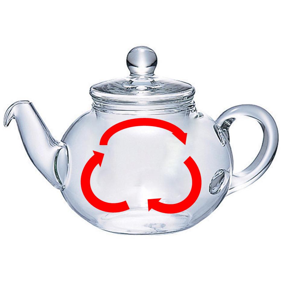 茶こしが付いていないティーポットだと茶葉のジャンピングスペースが大きいから抽出がスムーズです。