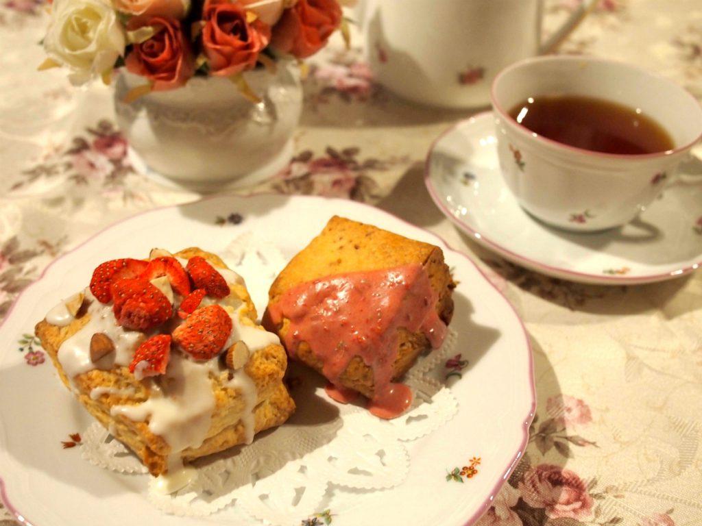 鎌倉ダイアモンドケークスの可愛いスコーンと紅茶