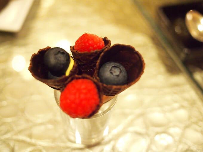 ラズベリーコーンとブルーベリーコーンもしっかりいただきました。ブルーベリーの粒が大きくて嬉しい!
